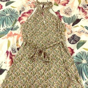 Anthropologie Haltered Patterned Romper